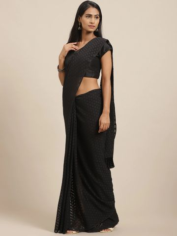 Vastranand | VASTRANAND Black Woven Design Saree
