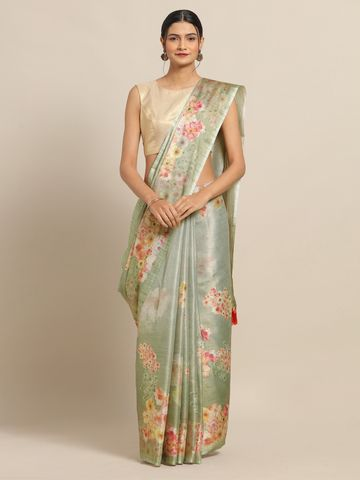 Vastranand | VASTRANAND New Maheswari Silk Flower Digital Print Soft Silk Saree