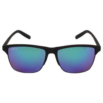 CREATURE | CREATURE Black Wayfarer Sunglasses with UV Protection (Lens-Multicolored|Frame-Black)