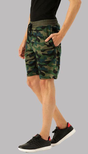 VEIRDO | Camoflage printed Shorts For Men
