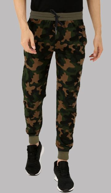 VEIRDO | Men's Camo Ragular Fit Track Paint