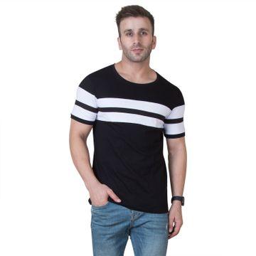 VEIRDO | Veirdo Black Striped Men T-shirt