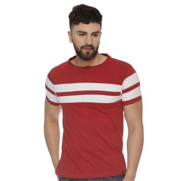 VEIRDO | Veirdo Maroon Striped Men T-shirt