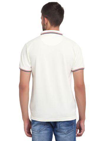 VENITIAN | Venitian Mens Solid Cotton Blend White Tshirt