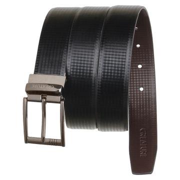 CREATURE | CREATURE Reversible Leather Black/Brown Formal Belt for Men
