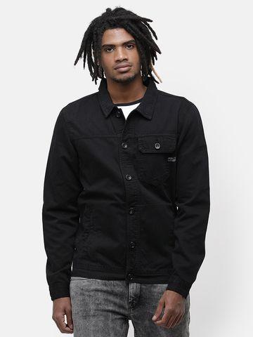 Voi Jeans | Black Denim Jackets (VOJK0145)