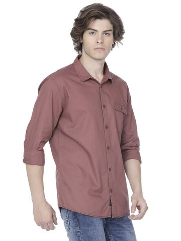Voi Jeans | Brown Casual Shirts (VOSH1206)