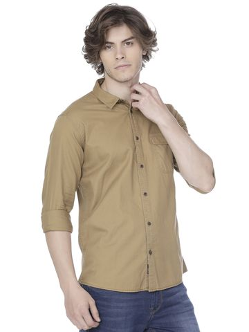 Voi Jeans | Brown Casual Shirts (VOSH1207)
