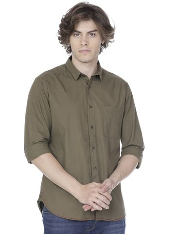 Voi Jeans | Green Casual Shirts (VOSH1243)