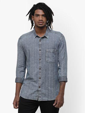 Voi Jeans   Blue Casual Shirts (VOSH1262)