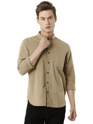 Voi Jeans | Brown Casual Shirts (VOSH1274)