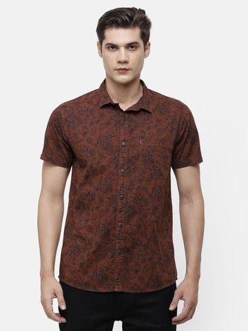 Voi Jeans | Brown, Floral Shirt (VOSH1409 )