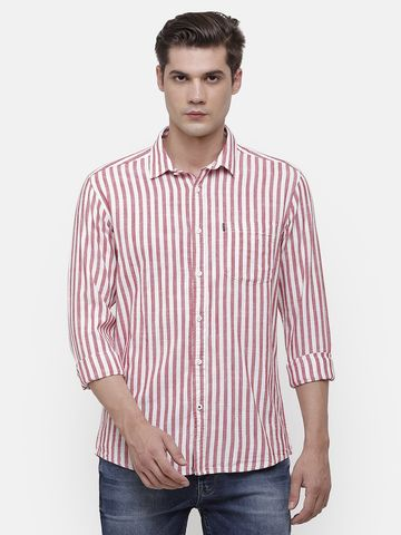 Voi Jeans | Red, White Shirt (VOSH1420 )
