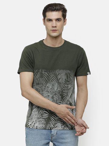 Voi Jeans   Olive Green T-shirt (VOTS1612 )