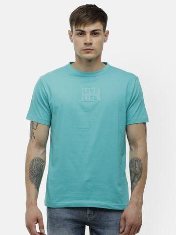 Voi Jeans | Aqua Green T-Shirt ( VOTSL003)
