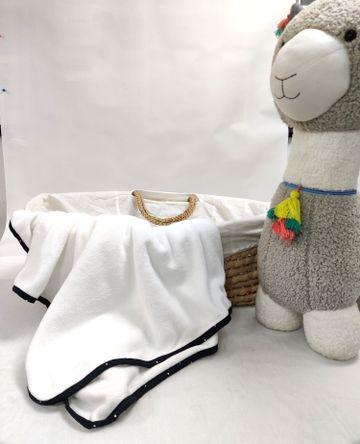 Mothercare | Shooting Star Fleece Baby Blanket White