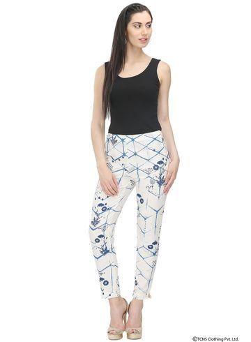 W | W Women White Color Trouser
