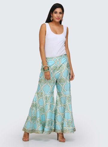 W   W Women Blue Color Sharara