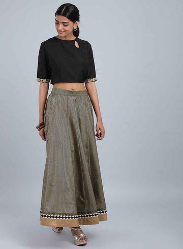 W | Wishful by W-Women Black Color Skirt