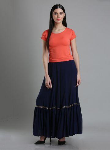 W | Wishful by W-Women Blue Color Sharara
