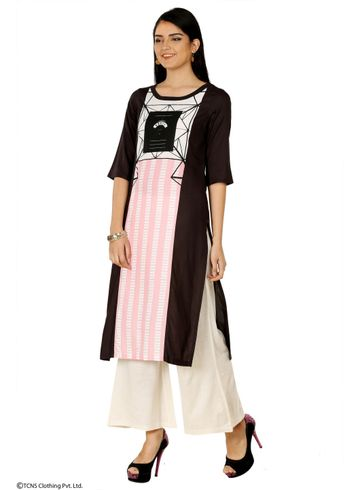 W | W Women Black Color Kurta