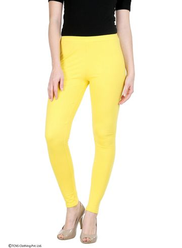 W | W Women Yellow Color Tights