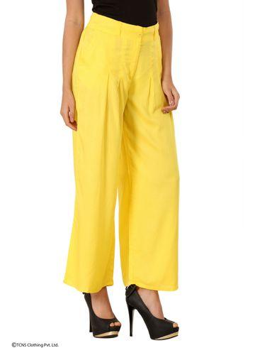 W   W Women Yellow Color Pants