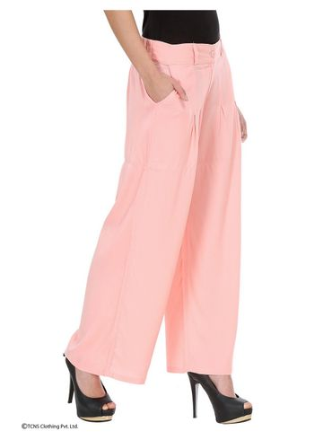 W | W Women Pink Color Pants