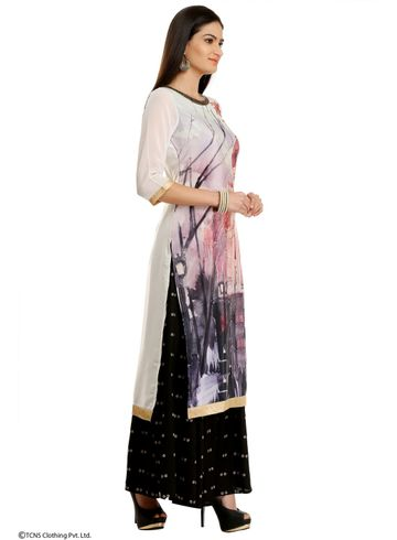 W | Wishful by W-Women White Color Kurta