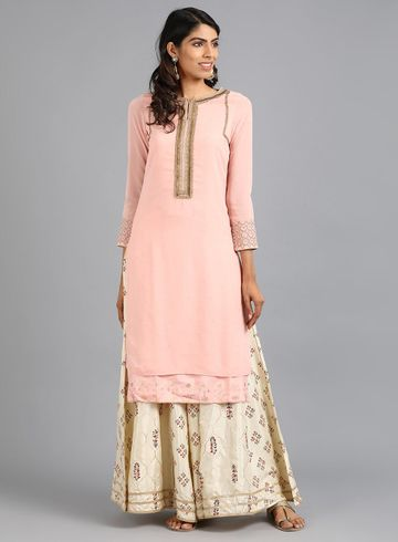 W | Wishful by W-Women Pink Color Kurta