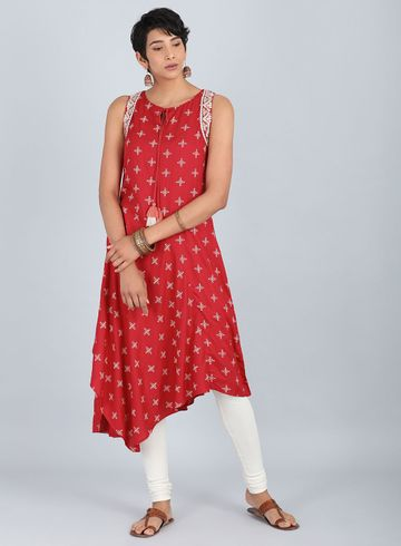 W | W Women Red Color Kurta