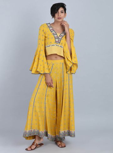 W   W Women Yellow Color Top