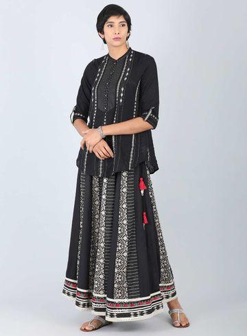 W | W Women Black Color Skirt