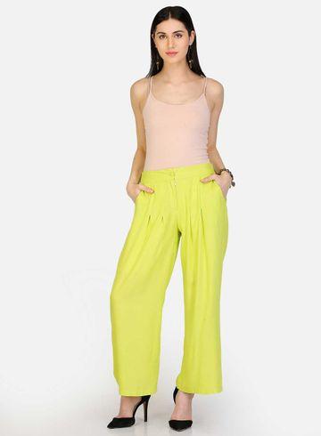 W | W Women Green Color Pants