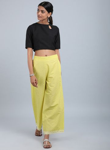 W | W Women Yellow Color Cullotes