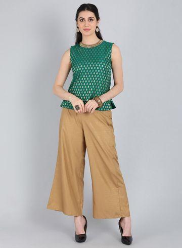 W   Wishful by W-Women Green Color Kurta