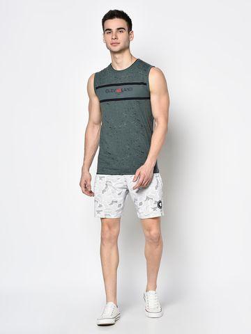 OCTAVE   Men WHITE MELANGE Shorts