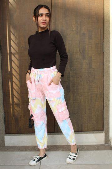 SIMARAA FAB | Simaraa Fab multi color printd cargo pant