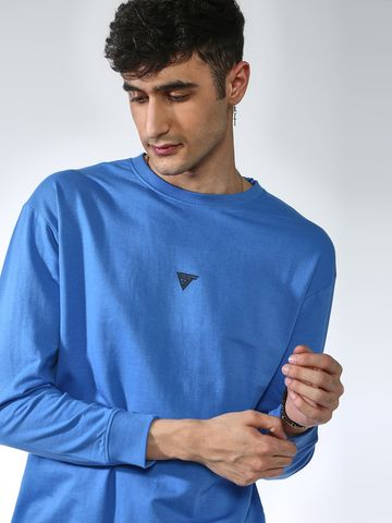 Blue Saint | Blue Saint Men's Blue Regular Fit Sweatshirts