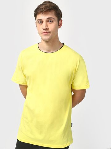Blue Saint | Blue Saint Men's Yellow Skinny Fit T-shirts