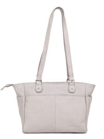 WildHorn   WildHorn Upper Grain Genuine Leather Ladies Tote, Shoulder, Hand, Shoulder Bag - Off White