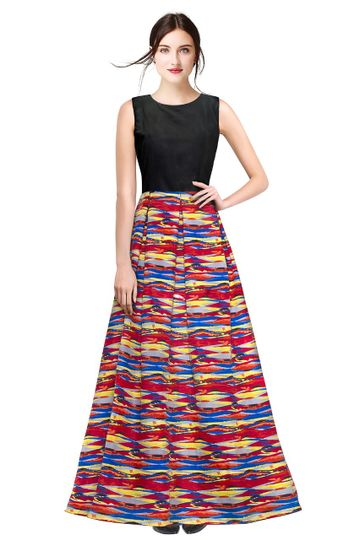 POONAM TEXTILE | Designer Printed Multi-coloured Party Wear Gown