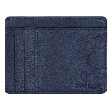 Walrus | Laurels Aristocrat Blue Vegan Leather Card Holder.