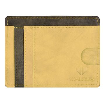 Walrus | Walrus Berlin III Brown Vegan Leather Card Holder.