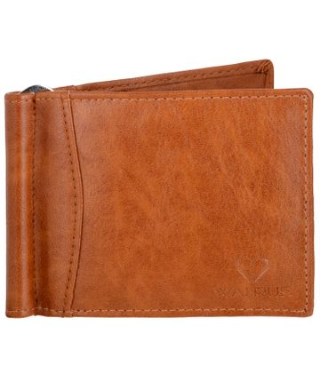 Walrus | Walrus Slim II Beige Vegan Leather Card Holder With Money Clipper.