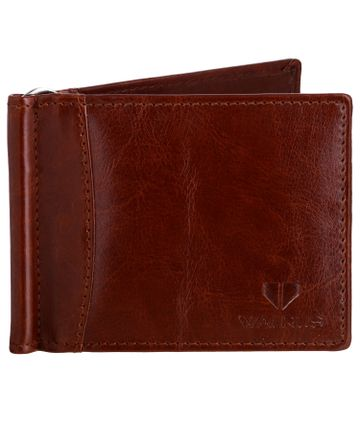 Walrus | Walrus Slim II Brown Vegan Leather Card Holder With Money Clipper.