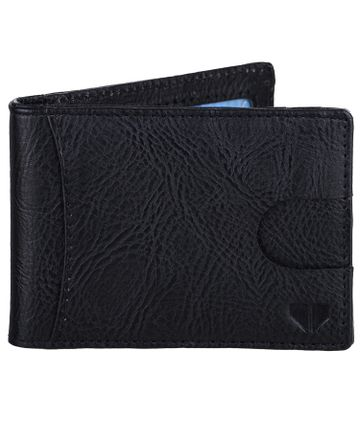 Walrus | Walrus Slim III Black Vegan Leather Card Holder With Money Clipper and Card Pull Out Loop.