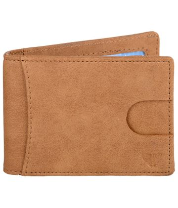 Walrus | Walrus Slim III Beige Vegan Leather Card Holder With Money Clipper and Card Pull Out Loop.