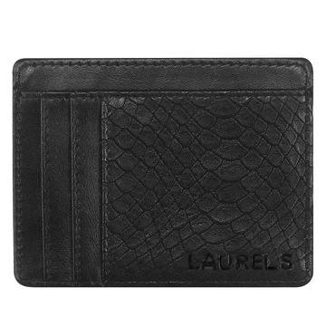 Walrus | Walrus Snake Black Vegan Leather Card Holder.