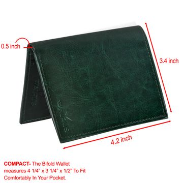 Walrus | Walrus Color Green Vegan Leather Card Holder.